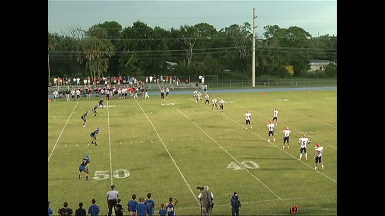 Will McCloskey playing football against Pompano Beach during the ...